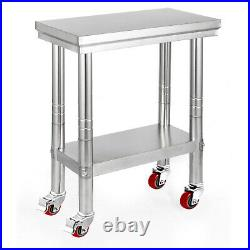 11 Style Stainless Steel Work Prep Table Station Commercial Kitchen Restaurant