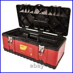 23 TOOL BOX HEAVY DUTY METAL STEEL AND PLASTIC TOOL BOX CHEST WITH TRAY amtech