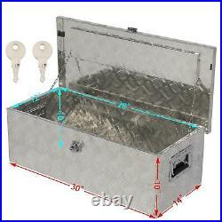 24 36 50 Aluminum Truck Underbody Tool Box Trailer RV Tool Storage Under Bed