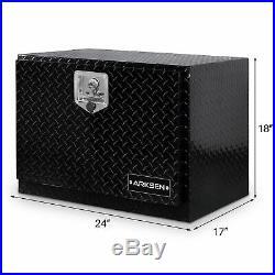 24 Black Aluminum Diamond Plate ToolBox Truck ATV Underbody Storage