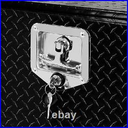 24 Inch Aluminum Diamond Plate Tool Box Pickup Truck Storage, Black