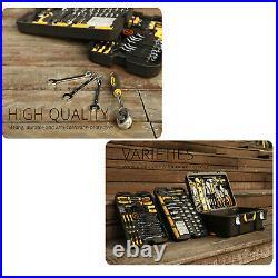 258 Pcs Tool Kit Socket Wrench Set Car Repair/Mechanic Case Trolley Tool Box Set