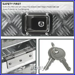 28/15 Heavy Duty Black Aluminum Tool Box Truck Pickup Storage withLock+Keys