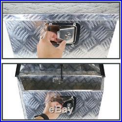 29 Heavy Duty Aluminum Tool Box Underbody Storage Truck Trailer Tongue+Keys