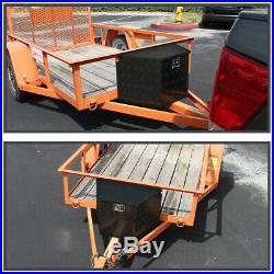 29 Heavy Duty Black Aluminum Tongue Tool Box Truck Trailer Storage+Lock+Keys