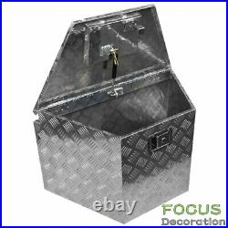 29 in Silver Aluminum Trailer Tongue Tool Box for Truck ATV Trailer withGas Struts