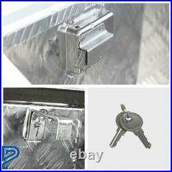 29 x 14.9 x 17.9 Silver Aluminum Underbody Storage Tool Box for Truck Trailer