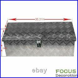30 Aluminum Truck Pickup ATV Camper Tool Box Trailer Flatbed RV Storage with Lock