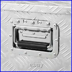 30'' Auminum Tool Box Truck Storage Bed ATV Trailer Box Large Narrow with Lock