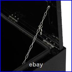 30 BLACK ALUMINUM PICKUP TRUCK TRUNK CAMPER Underbody TOOL BOX STORAGE LOCK