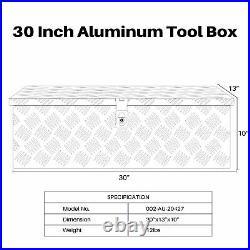 30L Aluminum Truck Pickup ATV Camper Tool Box Trailer Flatbed RV Storage WithLock