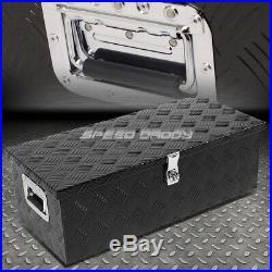 30x13x10 Black Aluminum Pickup Truck Trunk Bed Tool Box Trailer Storage+lock