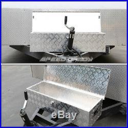 30x13x10 Chrome Aluminum Pickup Truck Trunk Bed Tool Box Trailer Storage+lock