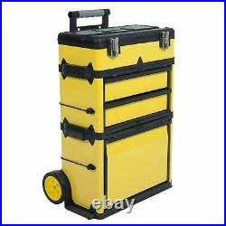 33 Inch High Portable Rolling Trolley Tool Box Great for Work Vans and Trucks