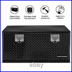 36 Aluminum Pickup Truck Trailer Diamond Plate ToolBox Storage Black