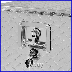 36 Aluminum Tool Box Diamond Plate Underbody Trailer Storage WithT-Handle Latch