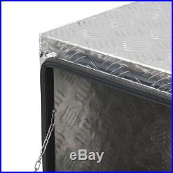 36 Aluminum Truck Underbody Tool Box Trailer RV Tool Storage Under Bed withLock