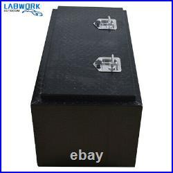 36 Cuboid Black Aluminum Truck Underbody Tool Box for Pickup Truck Trailer