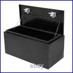 36black Aluminum Pickup Truck Trunk Bed Tool Box Trailer Storage+lock