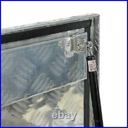 39x13x10 Chrome Aluminum Pickup Truck Trunk Bed Tool Box Trailer Storage+lock