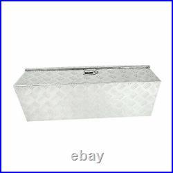 39x13x10 Pickup Truck Trunk Bed Tool Box Trailer Storage+lock Chrome Aluminum