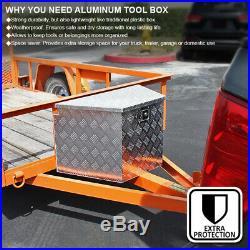 44 Heavy Duty Aluminum Tool Box Truck Pickup Trailer Underbody Storage+Handles