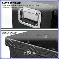 44 Heavy Duty Black Aluminum Tool Box Truck Pickup Underbody Storage+Handles