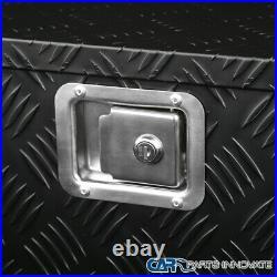 44x15 Truck Pick-up Black Aluminum Tool Box Trailer Storage with Lock & Chain