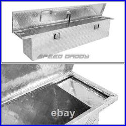 63x12x14 Chrome Aluminum Pickup Truck Trunk Bed Tool Box Trailer Storage+lock