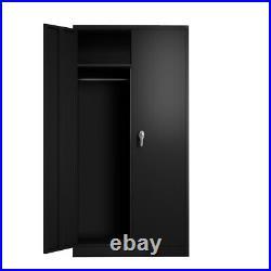 71 Lockable Garage Tools Office Storage Cabinet Metal with4 Adjustable Shelves