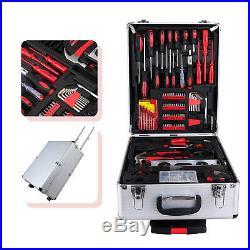 799 pcs Tool Set Trolley Mechanics Metric Standard Kit Case Box Organize Castors