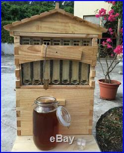 7PCS Upgraded Beekeeping Tool Hive Frames + Beehive Wooden Brood Box