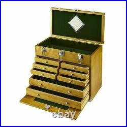 8 Drawer Hard Wood Tool Box Chest Cabinet Storage Mechanic Home Improvement