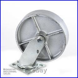 8 x 2 Swivel Casters with Steel Wheel (4) 1250lb ea Heavy Duty Tool Box