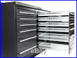 9ft 4 1/4 Workbench / Tool Box With 30 Drawers & 14 Gauge Stainless Steel Top