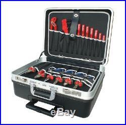 ABS Trolley Mobil Handwerker Elektriker Lehrlings Azubi Werkzeug Koffer 61019-AK