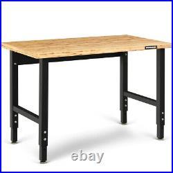 Adjustable Workbench Heavy-Duty Steel Frame Garage Work Table