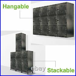 Allspace 3 Door Steel Storage Locker With Dark Weathered Finish 450112E