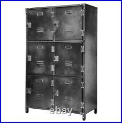 Allspace 6 Door Steel Storage Locker with Dark Weathered Finish 240037