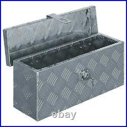 Aluminium Box Tool Organiser Trunk Chest Transport Boxes Trailer Storage Silver