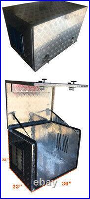Aluminum 2.0mm Generator Box Trailer Caravan Vent Storage withLock 30L