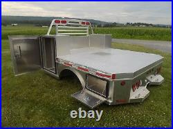 Aluminum Flatbed Service Body, design for Gooseneck, Toolboxes fits Truck