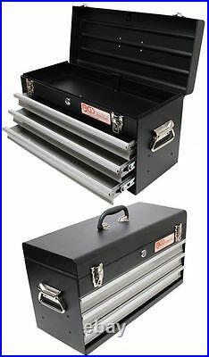 BGS 3312 Metall Werkzeugkoffer, leer, 3 Schubladen