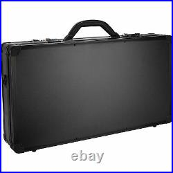 Barber Travel Organizer Tool Box Shears, Clippers, Trimmers, Case, Key and Lock