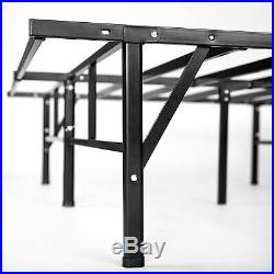 Bed Frame Platform Mattress Metal Foundation King Size Box Spring