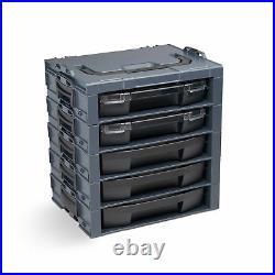 Bosch Sortimo i-boxx rack 5fach werkzeugkoffer mit iboxx 72+Schublade anthrazit