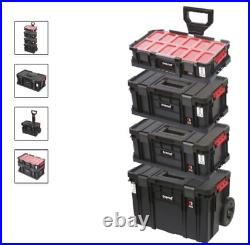Compact Cart Set Tool Box Trend 4 Piece On Wheels Large Lockable Compartments