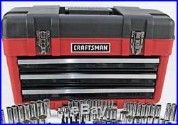 Craftsman 260pc Mechanics Tool Set with 3 Drawer Tool Box Chest Garage SAE Metric