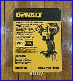 Dewalt 20v Max Brushless Compact 3/8 Inch Impact Wrench Dcf890b New In Box Tool
