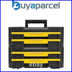 Dewalt DWST1-70706 TStak IV Tool Storage Box 2 Shallow Drawers 8L Capacity x 2